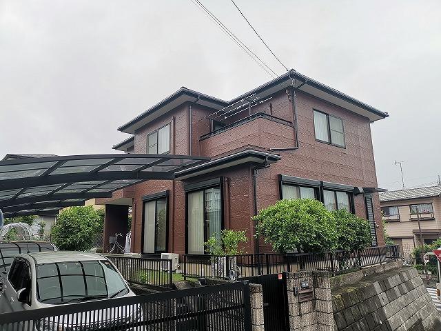 屋根カバー・外壁塗装工事 鳩山市N様邸