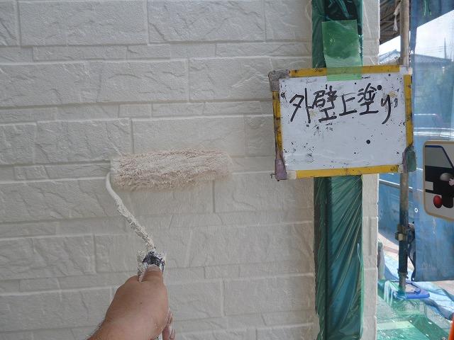 外壁3回塗りでしっかりとした塗装の膜を作り、仕上げていきます。