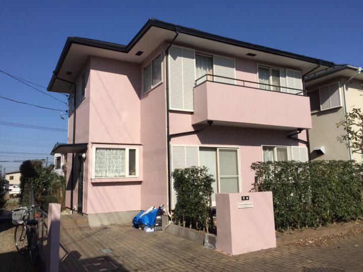 川越市 屋根金属カバー・外壁塗装