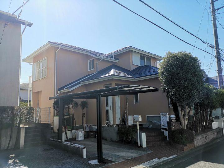 鳩山町N様 日本ペイントパーフェクトトップ・屋根スーパーガルテクト