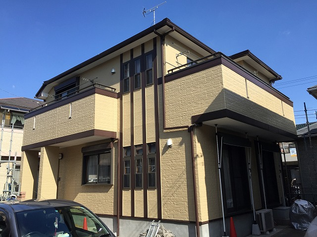 坂戸市千代田N様邸 屋根板金カバー工事 外壁塗装工事