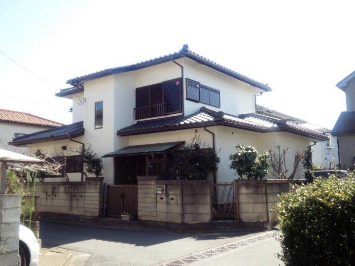坂戸市千代田S様邸 外壁塗装 屋根棟積み替え 雨樋交換工事