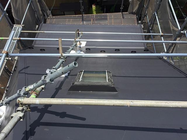 屋根板金カバー葺き
