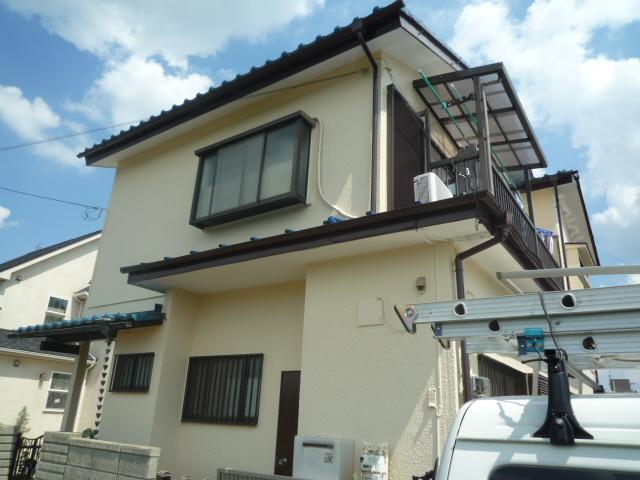 屋根漆喰補修・外壁塗装 川越市