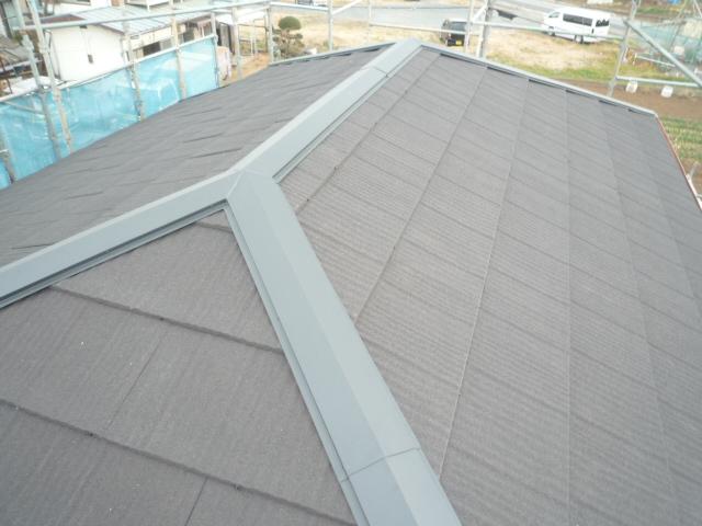 棟板金と内部の貫板も新品に交換