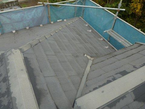 屋根スレート施工前