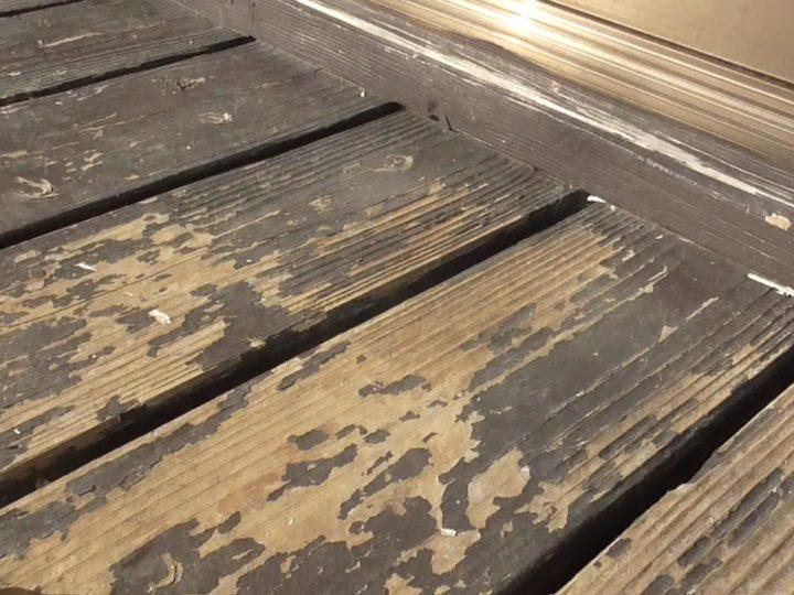 縁台塗膜剥離