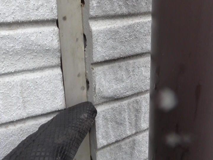 外壁反りで、切断面露出
