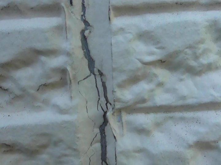 外壁シーリング目地 ひび割れ