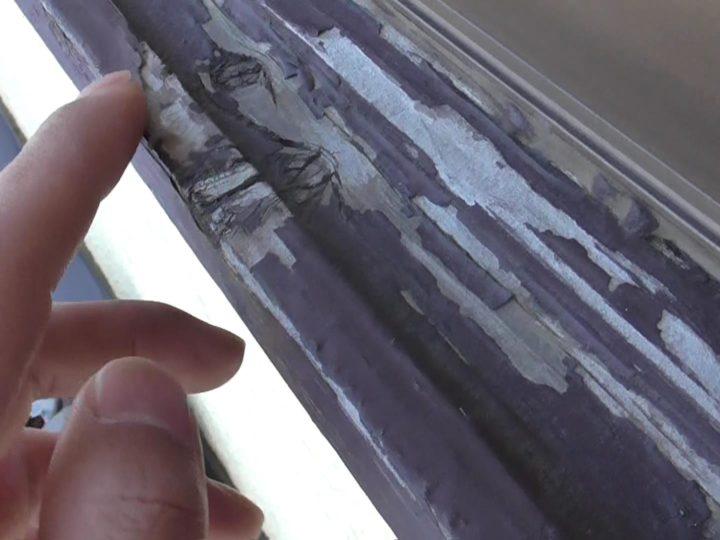 窓枠 塗膜剥離