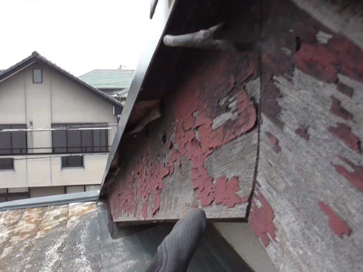 木製破風板劣化・変形