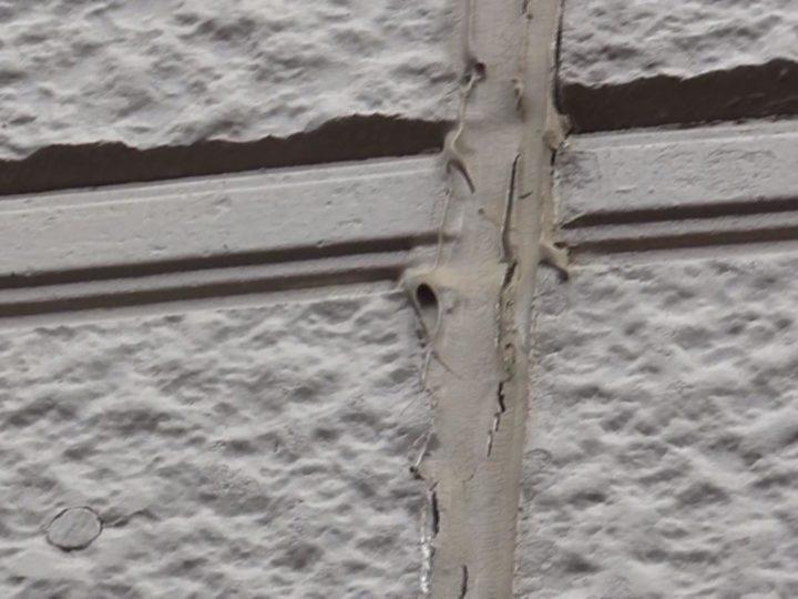 外壁目地シーリングが劣化しています