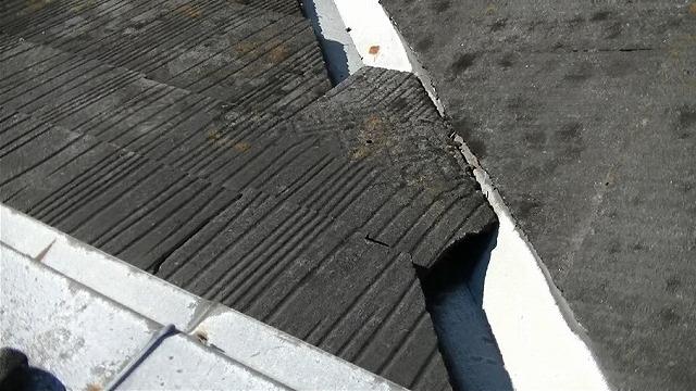 スレート屋根のズレ脱落
