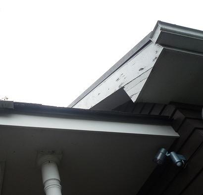 破風板塗膜剥離