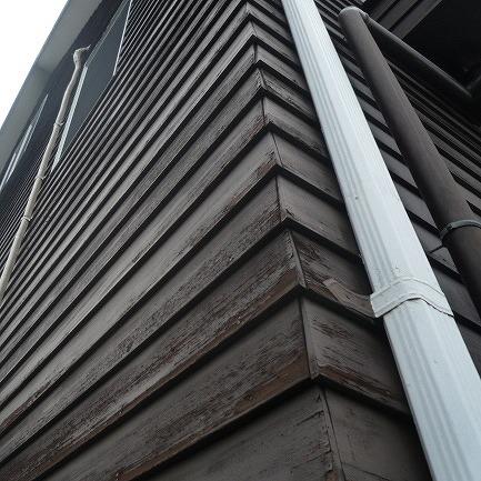 外壁木部塗膜剥離
