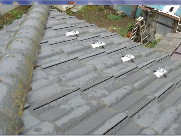 屋根セメント瓦吸水