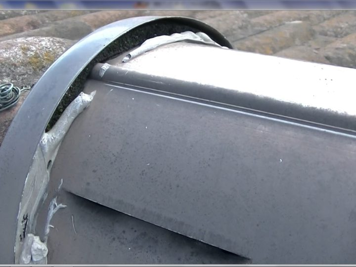 屋根乾式洋瓦棟板金シーリング防水切れ