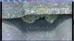 漆喰欠損などの経年劣化で防水壁が破られている状態