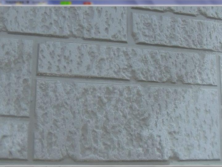 外壁の撥水効果が無くなり吸水し防水性能が失われています。