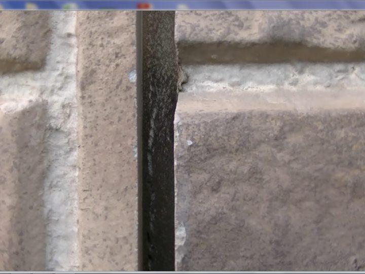 外壁落とし目地劣化硬化