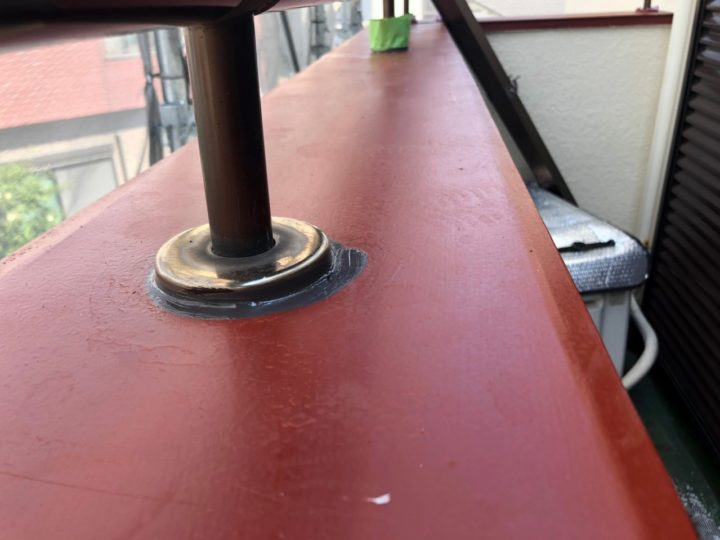 支柱まわり 防水処理