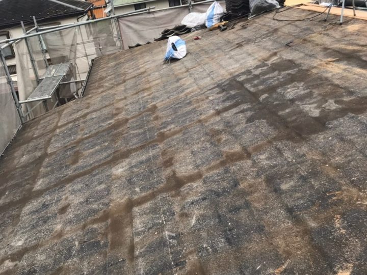 合板設置前清掃、確認