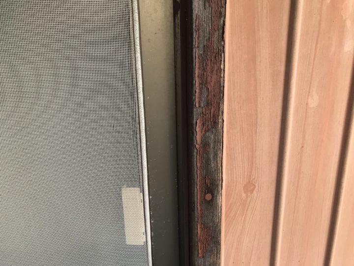 木製窓枠 塗装劣化