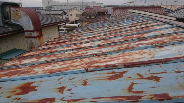 屋根 錆の発生