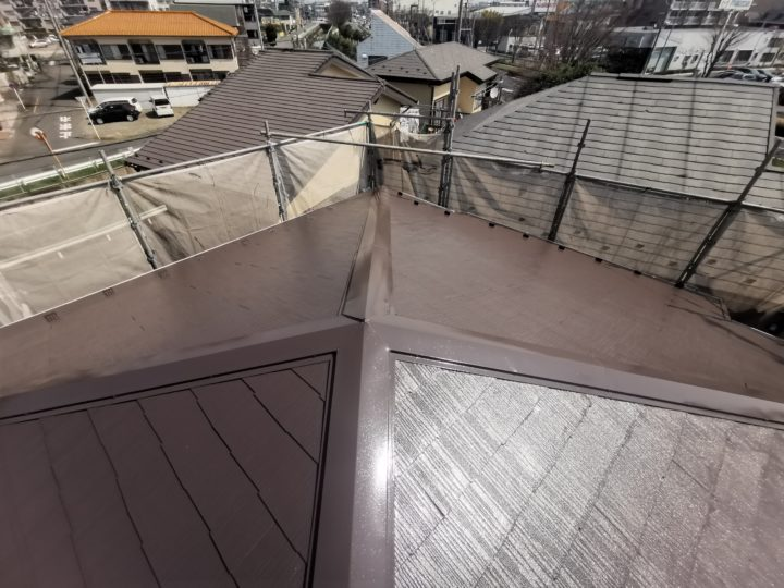 屋根塗装・棟板金交換工事鶴ヶ島市SW様