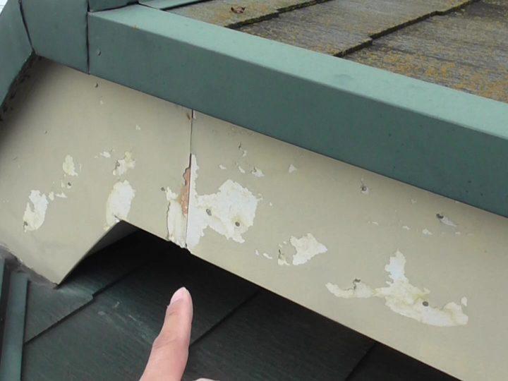破風板 塗膜剥離