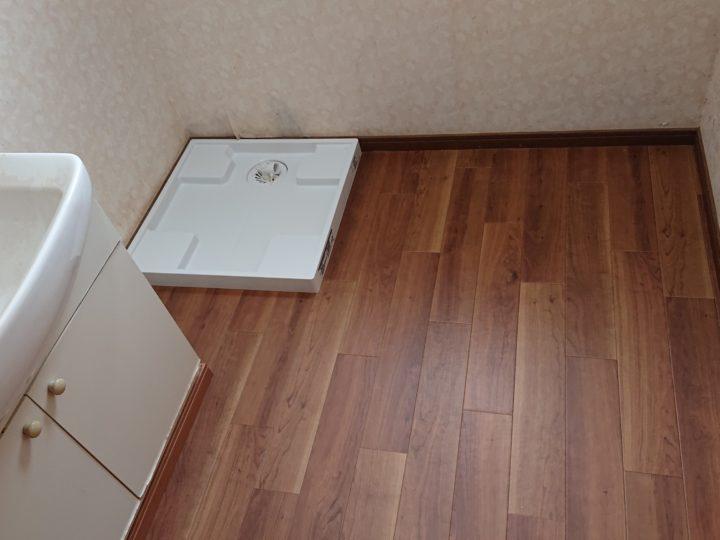 洗面室床補修工事・坂戸市M様邸