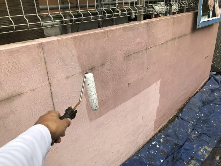 塀 下塗り