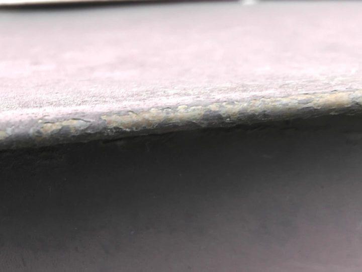 庇板金塗膜剥離