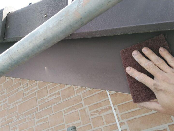 破風板ケレン作業