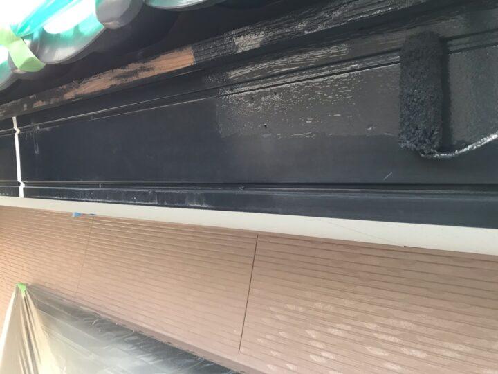 破風板塗装 1回目