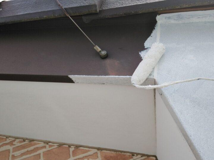 破風板錆止め塗装