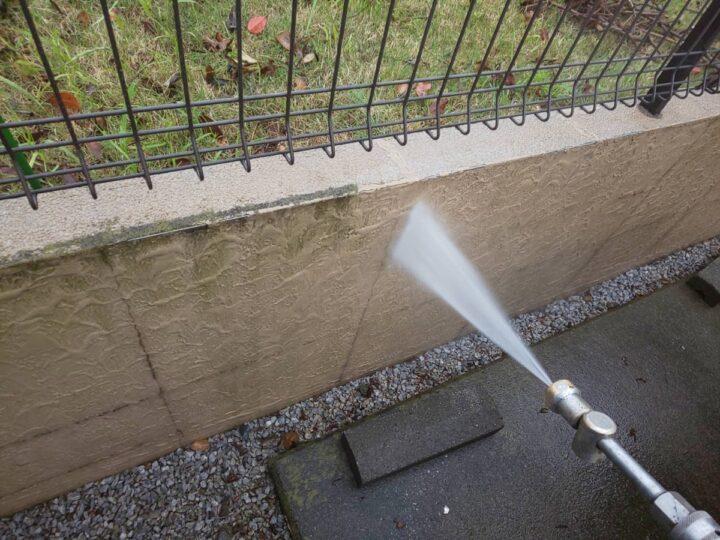 塀塗装 洗浄
