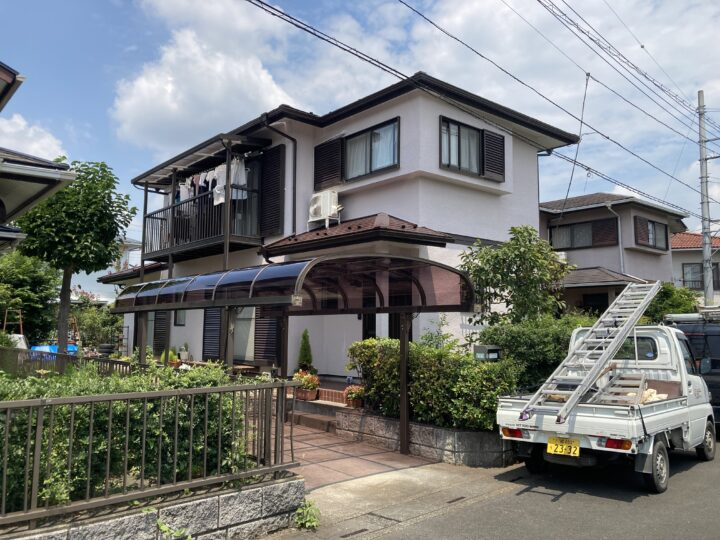外壁塗装・破風板金・雨樋交換 毛呂山町